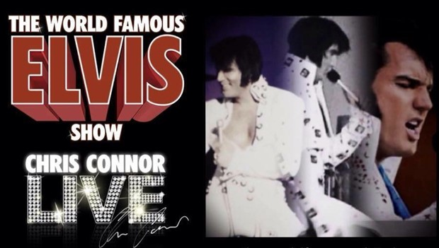 Image of Chris Connor impersonating Elvis